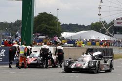 Переможець #2 Porsche Team Porsche 919 Hybrid: Ромен Дюма, Ніл Яні, Марк Ліб проходить #5 Toyota Rac