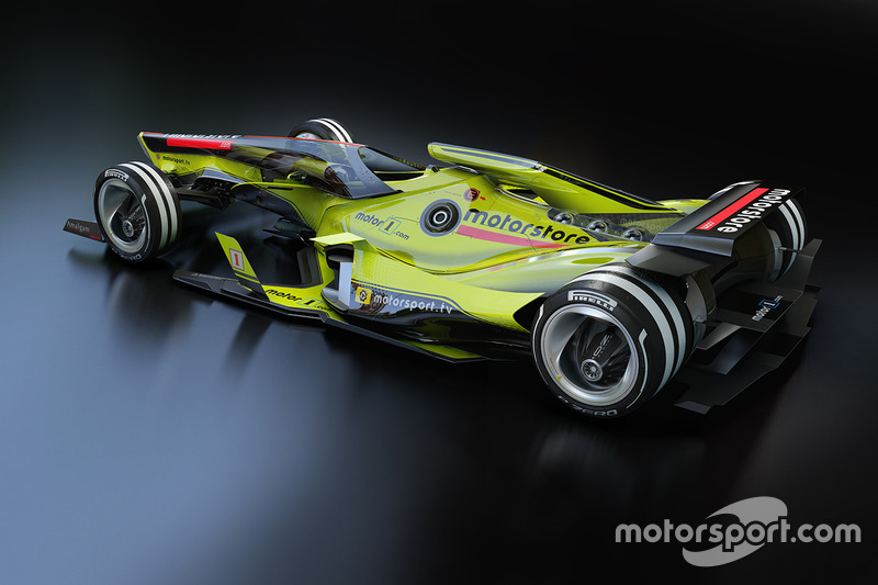 Fantasy F1 design of the future
