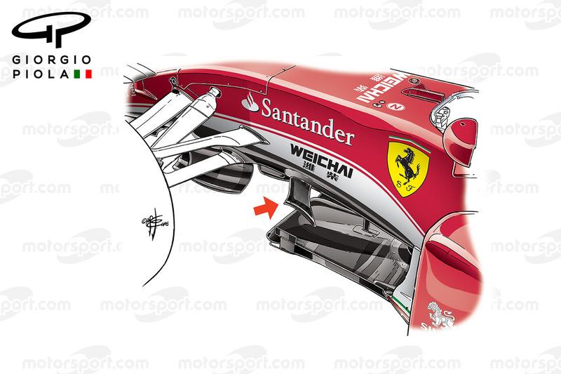 Ferrari SF16H: Vorderradaufhängung in Silverstone