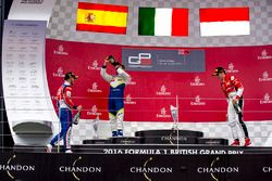 Podium: winner Antonio Fuoco, Trident, second place Alex Palou, Campos Racing, third place Charles Leclerc, ART Grand Prix