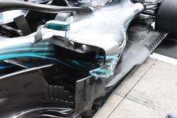 Mercedes-AMG F1 W09 detalle de la carrocería