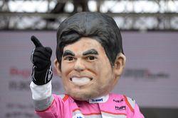 Une caricature de Sergio Perez, Force India