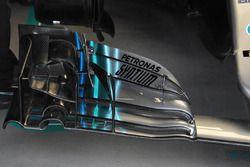 L'aileron avant de la Mercedes-AMG F1 W09