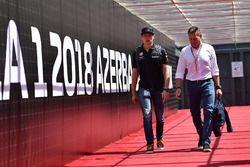 Max Verstappen, Red Bull Racing and Father Jos Verstappen