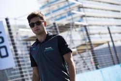 Mitch Evans, Jaguar Racing, walks the track