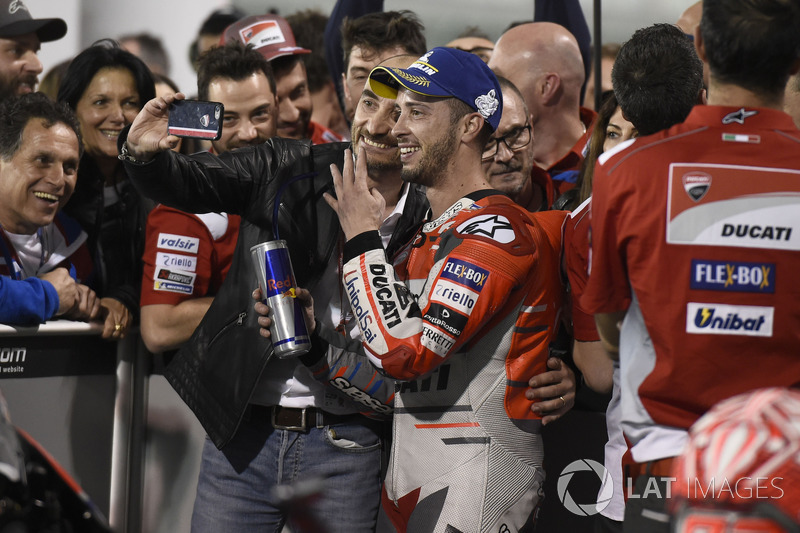 Winner Andrea Dovizioso, Ducati Team, Claudio Domenicali