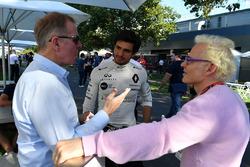 Martin Brundle, Sky TV, Carlos Sainz jr, Renault Sport F1 Team et Jacques Villeneuve, Sky Italia