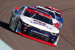 William Byron, JR Motorsports Chevrolet, Sam Hornish Jr., Team Penske Ford and Ty Majeski, Roush Fen