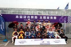 Gruppenfoto: Alle Fahrer beim Formel-3-Grand-Prix von Macao 2017