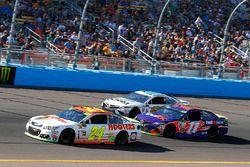 Chase Elliott, Hendrick Motorsports Chevrolet, Denny Hamlin, Joe Gibbs Racing Toyota and David Starr
