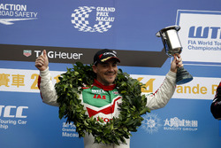 Podium: second place Norbert Michelisz, Honda Racing Team JAS, Honda Civic WTCC