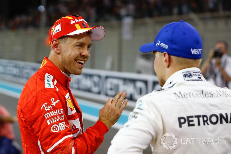 Sebastian Vettel, Ferrari, Valtteri Bottas, Mercedes AMG F1