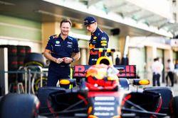 Christian Horner, Team Principal, Red Bull Racing, Max Verstappen, Red Bull