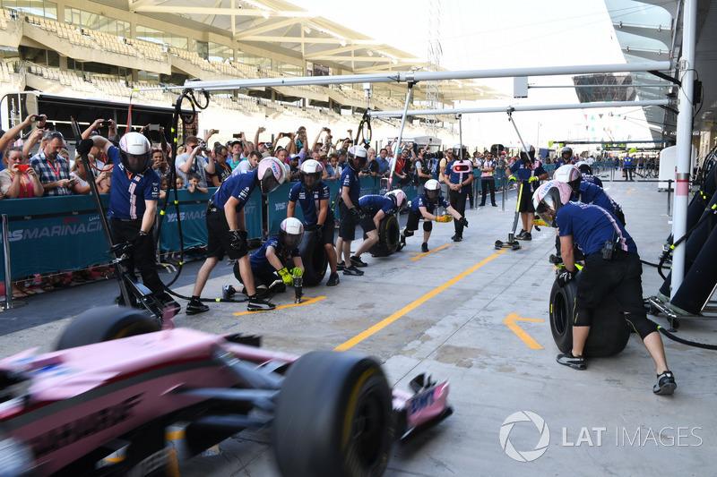 Sahara Force India pit stop antrenmanı