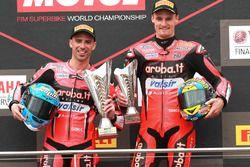 Podium: race winner Marco Melandri, Aruba.it Racing-Ducati SBK Team, third place Chaz Davies, Aruba.it Racing-Ducati SBK Team