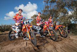 Jeffrey Herlings, Pauls Jonass en Glenn Coldenhoff, KTM