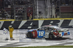 Kyle Busch, Joe Gibbs Racing, Toyota Camry M&M's Red White & Blue, celebrates after winning