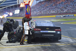 B.J. McLeod, Rick Ware Racing, Chevrolet Camaro Prefund Capital, makes a pit stop