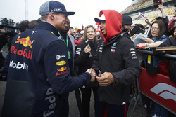 Max Verstappen, Red Bull Racing y Lewis Hamilton, Mercedes AMG F1