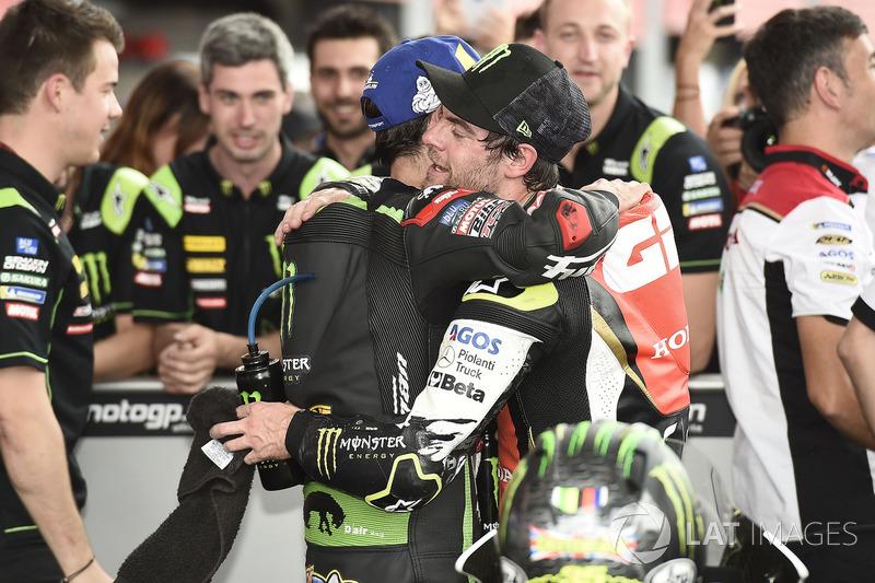 Переможець гонки Кел Кратчлоу, Team LCR Honda, друге місце Жоанн Зарко, Monster Yamaha Tech 3