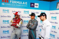 Daniel Abt, Audi Sport ABT Schaeffler, Mitch Evans, Jaguar Racing, Nelson Piquet Jr., Jaguar Racing, nel media pen