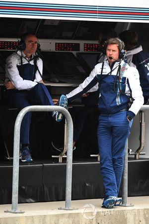Rob Smedley, Williams Head of Vehicle Performance en Paddy Lowe, Williams Shareholder en Technical D