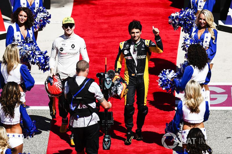 Гонщики Renault Sport F1 Team Нико Хюлькенберг и Карлос Сайнс-мл.