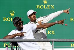 Переможець Льюіс Хемілтон, Mercedes AMG F1, Усейн Болт
