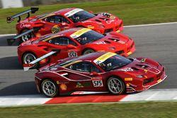 #575 Ferrari Jakarta Ferrari 488: Karim Nagadipurna, #557 Forza Motors Korea Ferrari 488: Andrew Moon, #269 Naza Italia Malaysia Ferrari 488: Zen Low