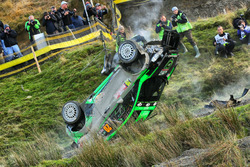 Crash: Yazeed Al Rajhi, Michael Orr, Yazeed Racing Ford Fiesta RS WRC