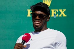 Usain Bolt on the podium
