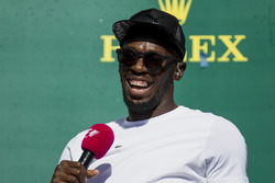 Usain Bolt on the podium