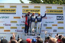 Tom Ingram, Speedworks Motorsport Toyota Avensis, Ash Sutton, Team BMR Subaru Levorg and Jason Plato, Team BMR Subaru Levorg