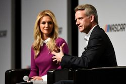 Steve Phelps, chief marketing officer for NASCAR, and emcee Danielle Trotta