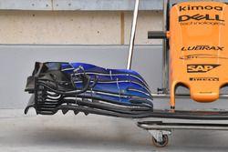 McLaren MCL33: i flap dell'ala anteriore