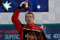 Podium: race winner David Reynolds, Erebus Motorsport Holden