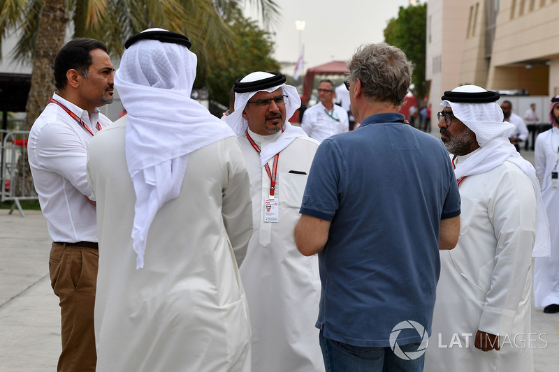 Crown Prince Shaikh Salman bin Hamad Al Khalifa, and Hermann Tilke