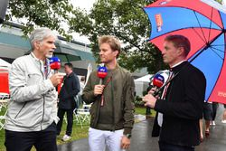 Damon Hill, Sky TV, Nico Rosberg, Mercedes-Benz Ambassador and Simon Lazenby, Sky TV