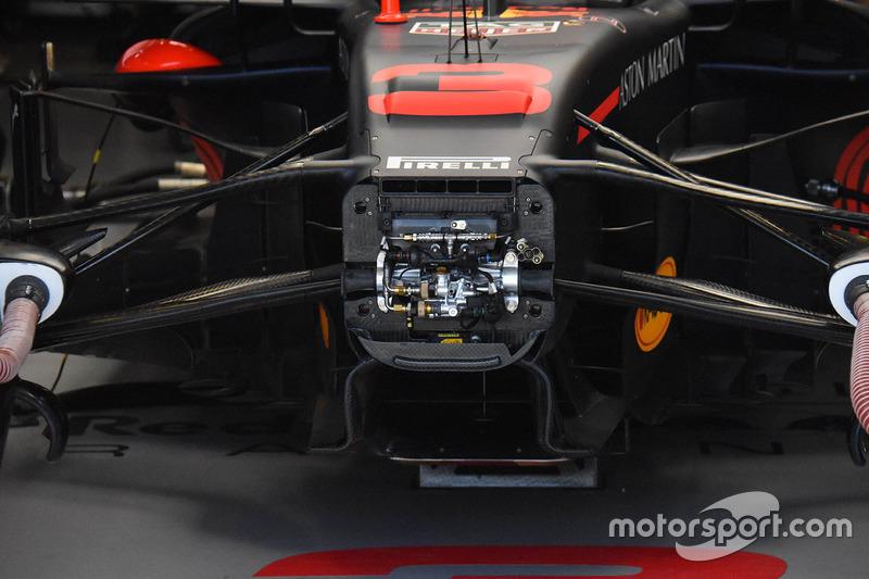La suspension avant de la Red Bull Racing RB14