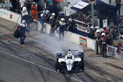 Zachary Claman De Melo, Dale Coyne Racing Honda, pit stop