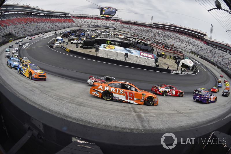 Kyle Busch, Joe Gibbs Racing, Toyota Camry and Daniel Suarez, Joe Gibbs Racing, Toyota Camry ARRIS