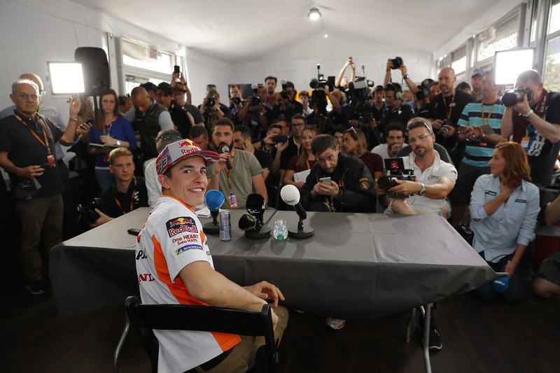 Marc Marquez, Repsol Honda Team with the media