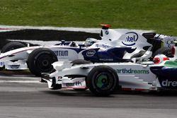 Ник Хайдфельд, BMW Sauber F1.08, Рубенс Баррикелло, Honda RA108