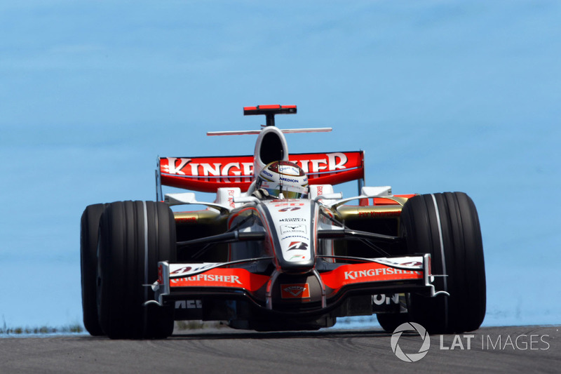 "2. <img src=""https://cdn-3.motorsport.com/static/img/cfp/0/0/0/0/83/s3/germany-4.jpg"" alt="""" width=""20"" height=""12"" /> Adrian Sutil. 128 races (2006-2011, 2013-2014). Best result - fourth (Italy - 2009)"