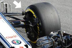 Sauber C37 : capot moteur