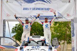 I vincitori Giacomo Costenaro e Justin Bardini, Hawk Racing Club