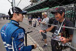 Takuma Sato, Rahal Letterman Lanigan Racing Honda, super fan