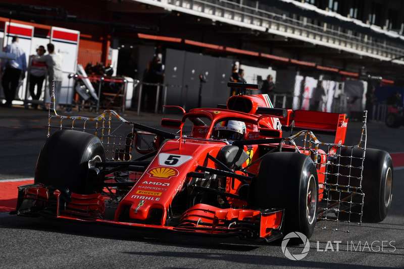 Sebastian Vettel, Ferrari SF71H con sensori aerodinamici