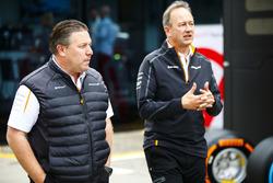 Zak Brown, Executive Director, McLaren Technology Group, and Jonathan Neale, Managing Director, McLaren