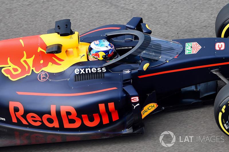 Daniel Ricciardo, Red Bull Racing RB12, avec l'Aeroscreen
